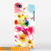 Floral (2) iPhone 4/4S, 5/5S, 5C Series Full Wrap Case