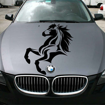 abstract horse car hood decal abstract horse Car Decals horse Car Truck horse Side Body Graphics Decal horse Sticker for car kikcar72