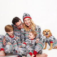 Christmas Family Matching Pajamas Set Long Sleeve Cotton Sleepwear Star Wars Print Snowflake baby mom dad Nightwear Pyjamas set