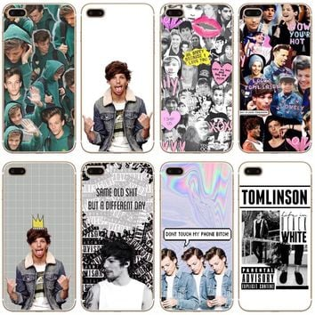 Louis Tomlinson Transparent Hard Thin Case Cover For Apple iPhone 4 4S 5 5S SE 5C 6 6S 7 8 X Plus