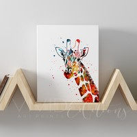 Giraffe Gallery Wrapped Canvas