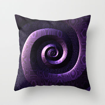 Nagini's Coils Throw Pillow by Lyle Hatch