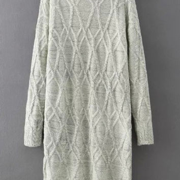 Shop Cable Knit Sweater Dress on Wanelo