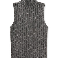Heathered Mock Knit Tank