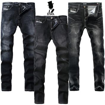 Preppy Dsel Brand Mens Jeans Pants With Logo Thin Elastic Skinny G702 Slim Stong Stretch G707 Slim Ripped G709 Black Jeans Men