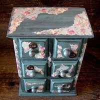 Shabby Chic Six Drawer Jewelry Chest with by ABurgessshoppe62407