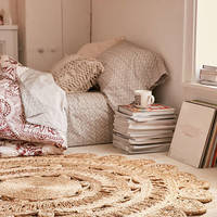 Lakho Woven Jute Round Rug - Urban Outfitters