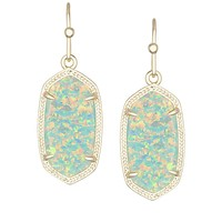 Dani Earrings in Aqua Kyocera Opal - Kendra Scott Jewelry