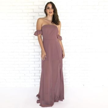 Special Day Mauve Maxi Dress