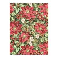 Christmas Floral Holiday fleece blanket