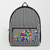 Elephant Festival |Family Walk | #society6 Backpack by Azima