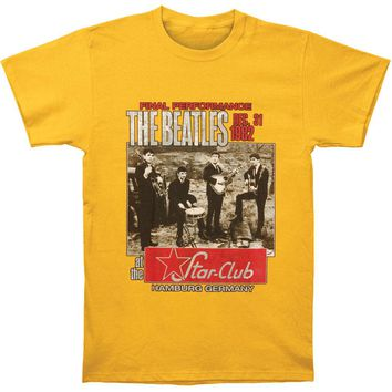 Beatles Men's  Star Club T-shirt Yellow Rockabilia