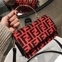 Fendi Autumn Winter Newest Fashionable Women Shopping Bag Handbag Crossbody Satchel Shoulder Bag Red