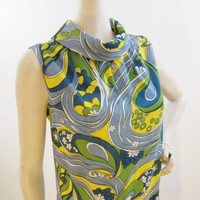 60s MOD Psychedelic Summer Shift Dress by voguevintage