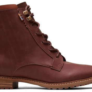 TOMS - Women's Nolita Penny Brown Leather Boots