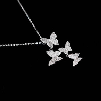 Multiple Butterfly Necklace