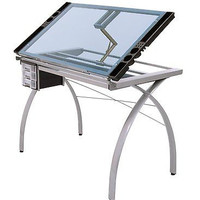 Adjustable Drafting Table Tattoo Stencil Glass Desk Tracing Drawing Work