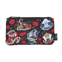 Loungefly Disney Villains Tattoo Print Pencil Case