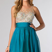 Sleeveless Short Homecoming Dress From JVN by Jovani