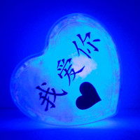 GlowHeart (Chinese)- unique, cool, geek, gift for him, wedding, easter gift, mother's day