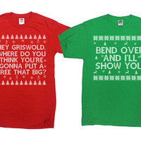 Funny Christmas Shirts Matching T Shirts Christmas Vacation Clark Griswold Christmas Gifts Ugly Xmas TShirts Holiday Outfits - SA861-862