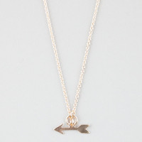 Full Tilt Arrow Lariat Necklace Gold One Size For Women 25359162101