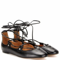 Lali leather ballerinas