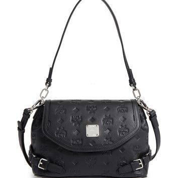 MCM Signature Monogram Embossed Leather Shoulder/Crossbody Bag | Nordstrom