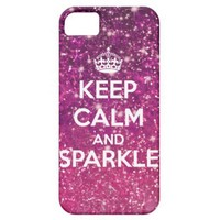 Keep Calm and Sparkle Glitter LookLike Iphone 5 Cover from Zazzle.com