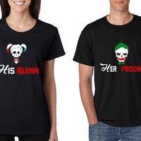 Couple T Shirt His Quinn Her Poddin Matching Outfits For Halloween