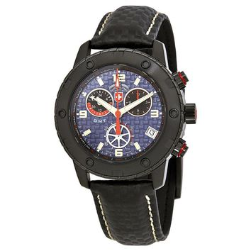 Swiss Military Rallye GMT Blue Dial Mens Watch 27521
