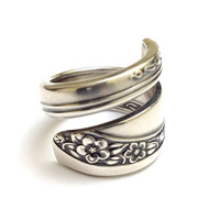 Vintage Silver Spoon Ring - circa 1953