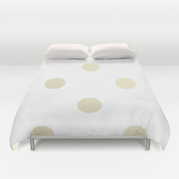 Gold Dots Duvet Cover by Nicole Davis