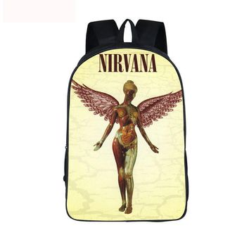 Juvenile Backpack Rock Band Nirvana / Soundgarden / Alice in Chains Backpack Boys Girls School Bags  Women Men Laptop Backpack