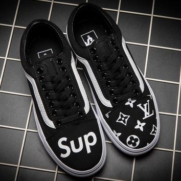Trendsetter Vans Era x Supreme x LV Old Skool Canvas Flat Sneakers Sport Shoes