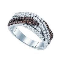 Diamond Fashion Ring in White Gold-plated silver 0.75 ctw