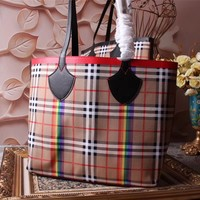 BURBERRY WOMEN'S CANVAS TOTE BAG