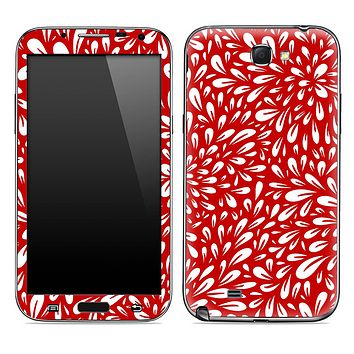 Red Floral Sprout Skin for the Samsung Galaxy Note 1 or 2