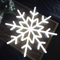 Snowflake Handmade neon sign, Custom neon light, Ready-made 16''x 16''