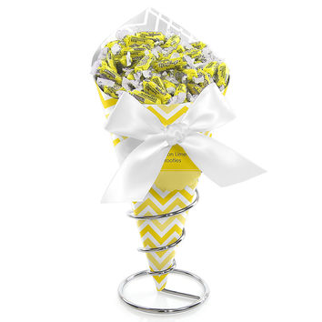 Chevron Yellow - Bridal Shower Candy Bouquets with Frooties