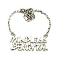 "New MINDLESS BEHAVIOR Fans Pendant &4mm/18"" Link Chain Fashion Necklace XC420R"