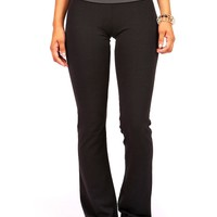 Contrast Band Yoga Pants