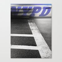 New York, NYPD Stretched Canvas by Deadly Designer