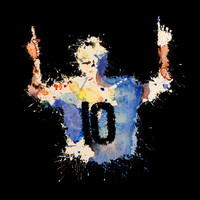 Lionel Messi Celebration Art Print by DanielBergerDesign