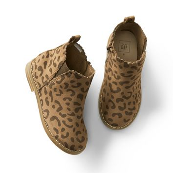 Leopard scallop booties | Gap