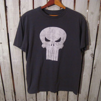 Punisher T-Shirt, Marvel Comics, Size Medium.  Reconstruction Available