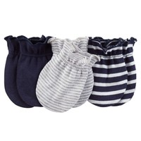 Carter's 3-pk. Stripe Mitts - Baby Boy, Size: 0-3 MONTHS (Blue)