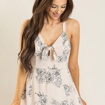 Rory Light Pink Floral Romper by LUSH