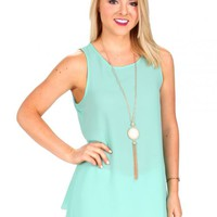 Alright With Me Mint Scalloped Top | Monday Dress Boutique