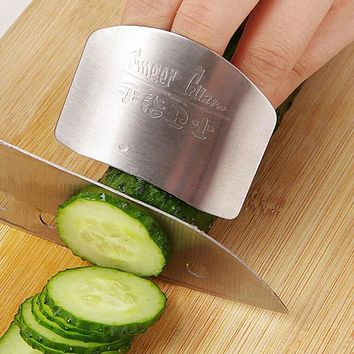 New Kitchen Cooking Tools Stainless Steel Finger Hand Protector Guard Personalized Design Chop Safe Slice Knife